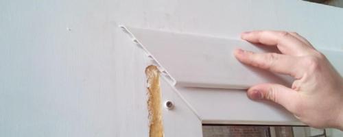 Как установить наличники на пластиковые окна