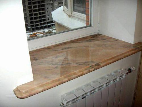 Изготовление подоконников из мрамора