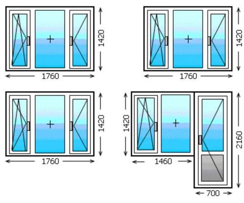 Стандартные размеры окон в хрущевке