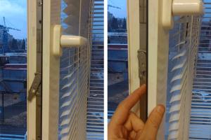 разблокировка ручки окна