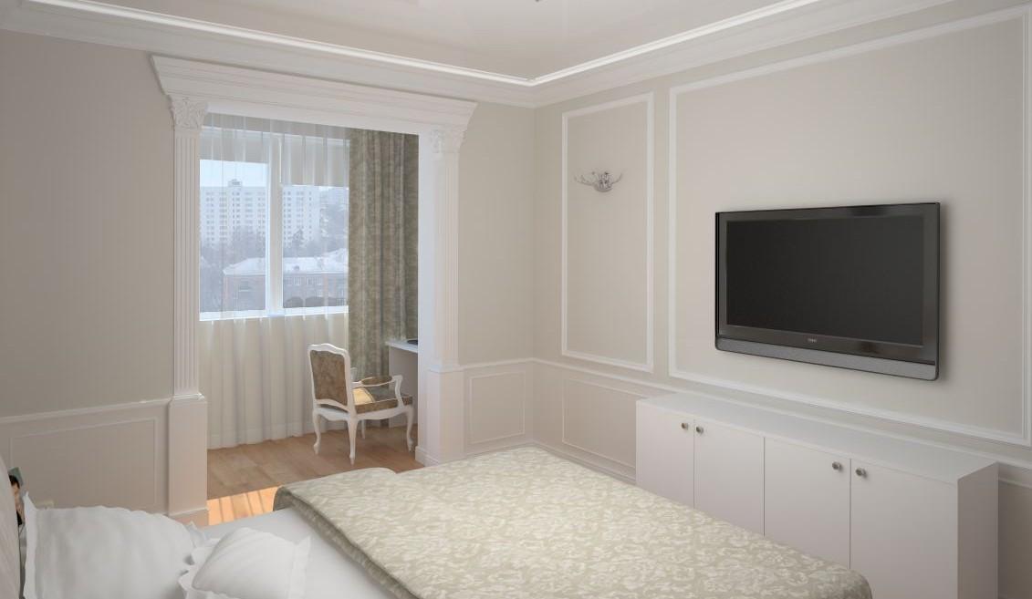 Лоджия совмещенная со спальней