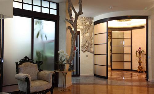 Раздвижные стеклянные двери и перегородки