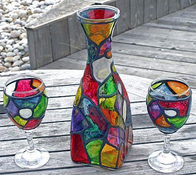 Краски по стеклу витражные