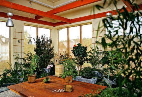 Японский стиль зимнего сада